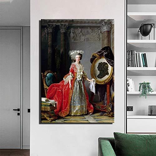 SADHAF olieverfschilderij portret op canvas, kunst, salon 60x90cm (senza cornice) A5