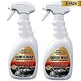 KevianClean Car Wax Spray - Quick Wax Instant Carnauba Polish Provides Maximum UV Protection & Shine - 24oz 2-Pack