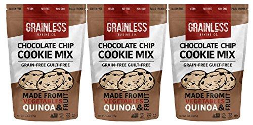 Grainless Grain Free Chocolate Chip Cookie Mix - Baking Mix for Grain-Less Chocolate Chip Cookies, Grain Free Blondies   Gluten...