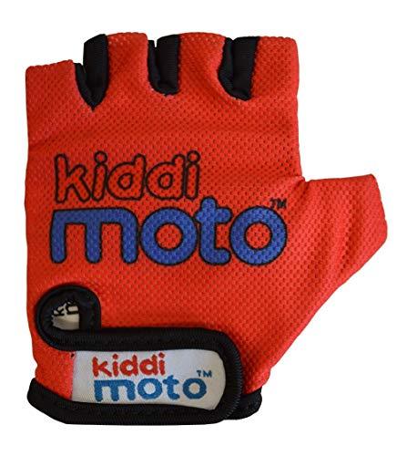 KIDDIMOTO Kinder Fahrradhandschuhe Fingerlose für Jungen und Mädchen/BMX Handschuh/Fahrrad Handschuhe/Bike Kinder Handschuhe - Rot - Medium