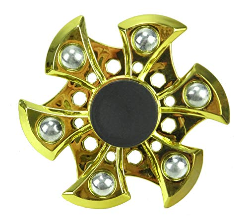 TOYLAND Spinarooz Hand Spinner Novelty Toy - Fidget Spinner - 3 en 1 - Salto, Rebote, Giro (Oro)