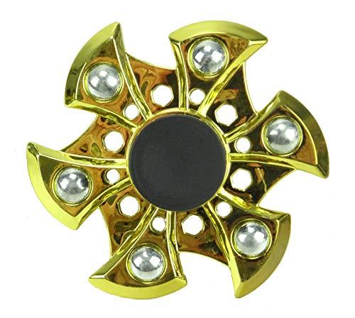 TOYLAND Spinarooz Hand Spinner Novelty Toy - Fidget Spinner - 3 en 1 - Salta, rebota, Gira - Oro