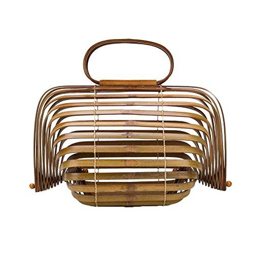 Strandtasche,Enjoyall Damen Henkeltaschen Bambus Handtasche Handgefertigt Taschen Strandtaschen Shopper für Sommer Strand