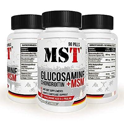 GLUCOSAMINE – CHONDROITIN - MSM + Hyaluronsäure + L-Proline   90 Tabletten   MST NUTRITION BERLIN  