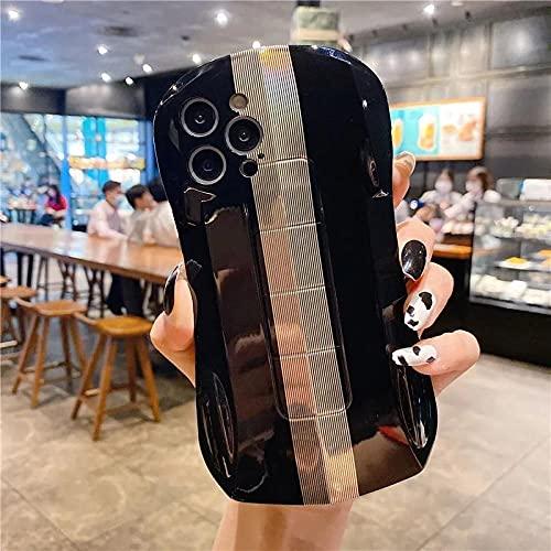 Coche Deportivo galvanizado Vertical Tira Vertical Caja de teléfono móvil Suave Silicona Caja del teléfono para iPhone 11 12 Pro MAX 7 8 Plus Sex XR XS-T1_iphone11promax