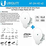 Ubiquiti AF24HD KIT 2 End Points airFiber 24HD AF-24HD 24GHz 20km License-Free