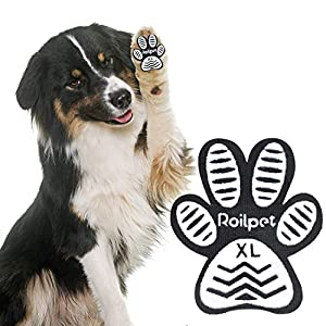 Roilpet Dog Slip Stopper Pads- Provide Your Dogs with Anti-Slip Traction from Slipping on Hardwood Floors, Especially for Senior Dog for Indoors Wear (48 Pads, XL (2 2/7″x2″, 41-60 lbs))