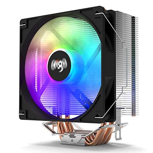 Aigo ICE400 CPU Air Cooler 120mm PWM Fans 4 Heatpipes RGB Radiator For Intel LGA 775/115X/1366/2011 For AMD AM4 AM3+ AM3