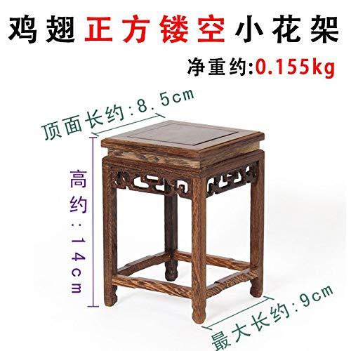don997gfoh08yewi Yaxuanzhai rode kunstbasis, kippenvleugel houten basis steen basis bloempot basis stand8.5 * 14cm