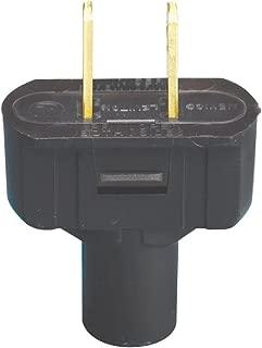 Leviton 48643 15 Amp, 125 Volt Non grounding plug, Black