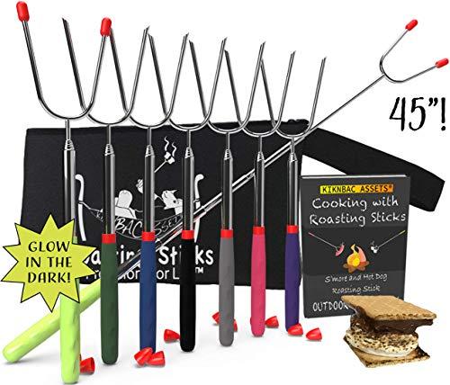 KBA Marshmallow Roasting Sticks 45' Long | Set of 8 | Telescoping...