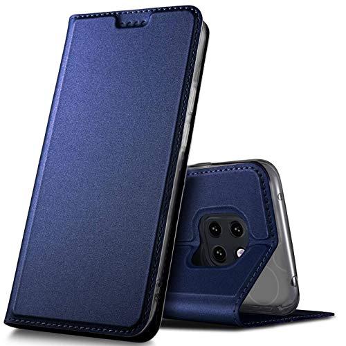 Verco Etui pour Huawei Mate 20 Pro, Coque Pochette Portefeuille pour Housse Huawei Mate 20 Pro avec Magnétique Fonction Wallet - Bleu