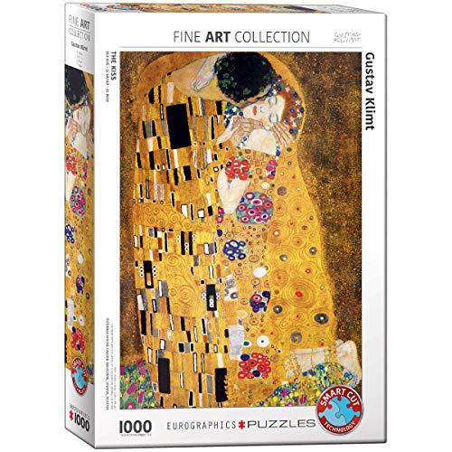 EuroGraphics Rompecabezas de 1000 Piezas de Gustav Klimt The Kiss de