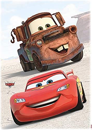 Komar 14015h, Braun/Rot Disney-Deco-Sticker CARS FRIENDS-50x70cm-Wandtattoo, Wandsticker, Wandaufkleber, Wandbild, Auto, Rennauto, Lightning McQueen-14015h