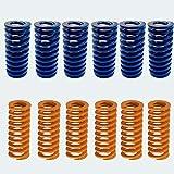 12pcs Impresora 3D Resortes Muelle de compresión Tornillo Carga liviana para Creality CR-10 10S S4 Ender 3 Ender 3 Pro Lecho calefactado Conexión inferior nivelación Amarillo Azul
