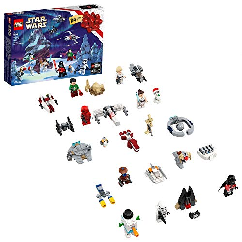 LEGO - Star Wars Calendario dell'Avvento 2020, Mini Set do Costruzioni Natalizie con Astronavi e Personaggi Iconici, 75279