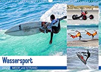 Wassersport - Meer und Strand (Wandkalender 2022 DIN A3 quer): Spass auf den Wellen und am Strand (Monatskalender, 14 Seiten )