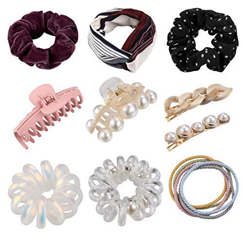 Samt Haarbänder, elastisches Gummiband, weiche Haargummis, Seile für Frauen und Mädchen, 14 Stück