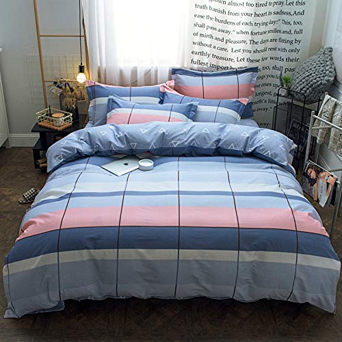 yaonuli katoenvierdelig studentenlabyrint 2,0 m bed (dekbedovertrek 220 x 240 + laken270 x 250 + kussensloop2) viersets