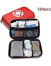 طقم الإسعافات الأولية من ليكسادا 184 قطعة من معدات الطوارئ مع حقيبة تخزين للسيارة والسفر والمكتب المنزل والتخييم والمشي لمسافات طويلة