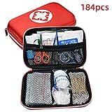 Lixada Kits de Supervivencia Set de Primeros Auxilios 184 pcs con Bolsa de Almacenamiento para Oficina Viajes Inicio Camping Senderismo