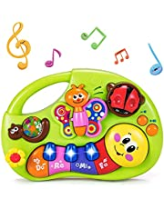 HOLA Musical Baby Toys 6 to 12 Months, Baby Piano Keyboard Light Up Bugs Toy, Learning Education Toys for 6-12 Months, 6 9 12 18 24 Months, 1 2 3 Years Old, Toddlers Infants Kids Boys Girls