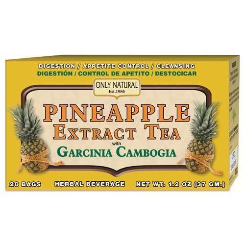 Only Natural Tea - Pineapple Extract - Garcinia Cambogia - 20 Tea Bags by Only Natural