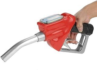 1 Inch 25cm Automatic Fuel Nozzle, Digital Fuel Oil Gasoline Nozzle Gun Fueling Nozzle with Flow Meter