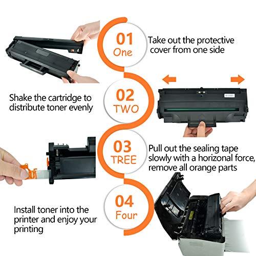KCMYTONER 1 PK Toner Cartridge Compatible for Samsung MLT-D101S MLTD101S Black use in SCX-3405W ML-2165W SCX-3405FW ML-2161 ML-2166W ML-2160 ML-2165 SCX-3400 SCX-3401FH SCX-3406W ML-2161 Printer Photo #5