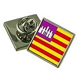 Select Gifts Islas Baleares Bandera Insignia de Solapa de Plata Maciza 925