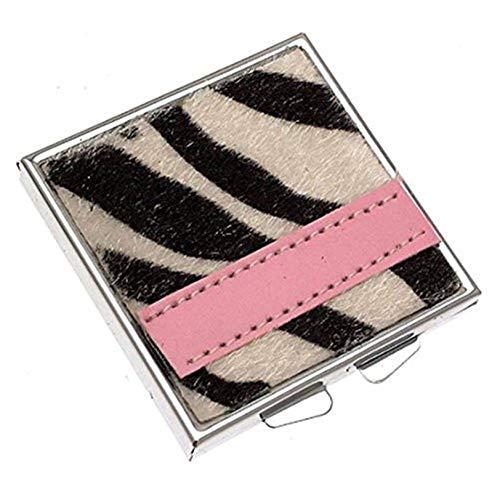 Miroir design compact Zebra Stripe