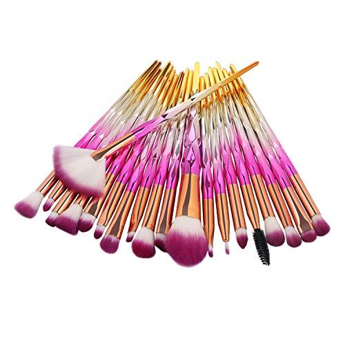 Lot de 20 Pinceaux de maquillage Cosmétique Professionnel WINJIN Kit de Pinceau de maquillage Diamant Outils de maquillage Ensemble de pinceaux Makeup brushes
