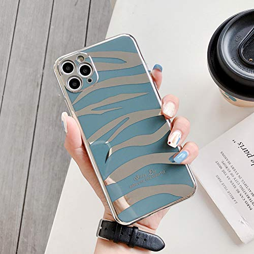 Luxury Plating Silicon Phone Case for iPhone 7 8 Plus X Matte Soft Cover for iPhone 11 Pro X Xr Xs Max Protective Case-Light Blue-for iPhone 7 Plus