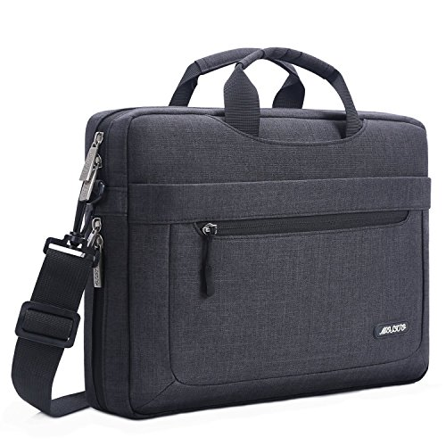 MOSISO Laptop Briefcase Shoulder Bag Compatible with 17-17.3...