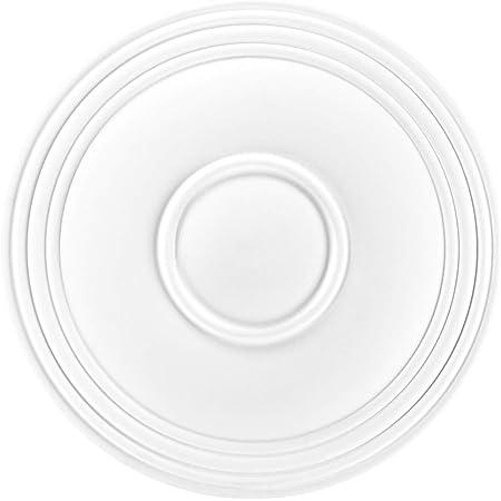 Zierelement HEXIM Perfect Stuckrosette gro/ße Auswahl an Deckenrosetten aus PU hartschaum robust B2016-914 x 660 mm Kronleuchter Umrandung Medaillon Innendekor