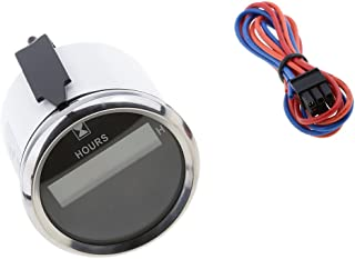 Black Chrome Baoblaze 52mm Volt//Oil//Temp//Check Engine Alarm Indicator Gauge 800-00256