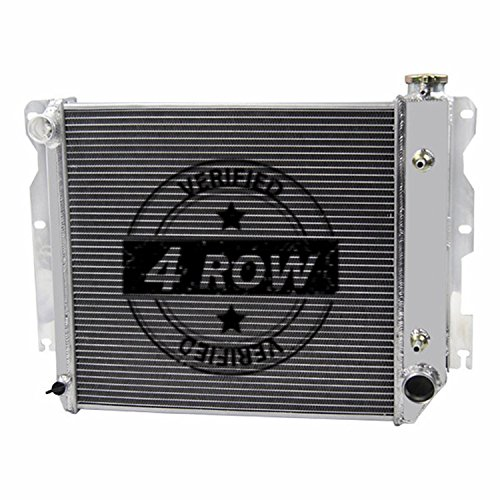 Primecooling 62MM 4 Row Core Aluminum Radiator for Jeep Wrangler TJ YJ w Chevy V8 LS Engine SWAP 1987-2006