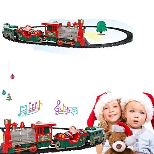 Tren De Madera De Navidad, Juego De Rieles De Tren De Navidad,...
