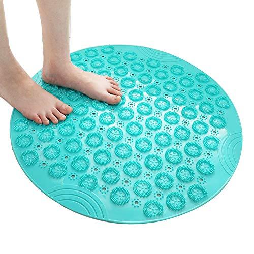 Teppich,Badematten & -teppiche Badematte Teppich Badematte Bad Badteppich Fußkissen Haushalt rutschfeste Matte Runddusche Wasser WC WEIYV (Color : Green, Size : 55 * 55cm)