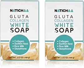Glutathione Collagen White Soap (2 Pack) – Reduce Wrinkles, Freckles &..