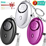 Personal Alarms For Women Rinzym -【Self-Defense】140DB Safesound Emergency Alarms, Compact Carry Alarms Keychain with LED Light For Women Kids and Elderly, Rape Whistle Safety Siren - Battery Included