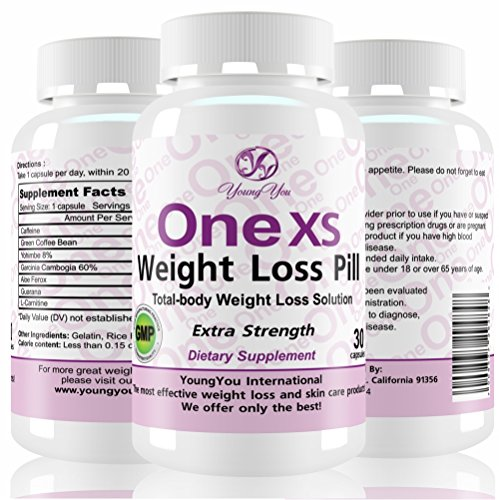 One XS Diet Pills Pharmaceutical Grade Weight Loss Supplement. Appetite Suppressant Fat Burner. Extra Strength Weight Loss Pills