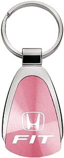 DanteGTS Au-TOMOTIVE Gold Compatible Keychain and Keyring for Honda Fit [KCPNK.FIT] - Pink Teardrop