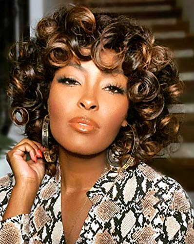 ELIM Curly Afro Wigs for Black Wome…