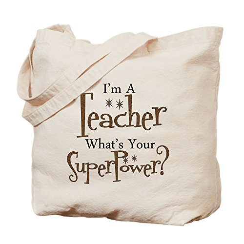 Cafepress – Super Teacher – Borsa di tela...