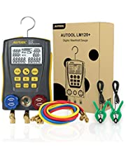 Sistema de calibradores de sistema de HVAC de refrigeración digital, medidor de fugas de temperatura de presión de vacío de alta precisión, kit de medidor dignóstico para pruebas de mantenimiento de aire acondicionado, refrigerador