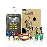 BELEY - Set de Medidor Manifold Digital de Refrigeración HVAC, medidor de temperatura de presión de vacío de alta precisión, medidor de fugas, medidor de Dignostic Kit