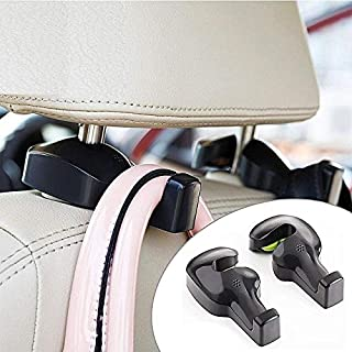 Inditradition Universal Car Back Seat Headrest Hook | Hanging Holder for Purse, Bags, Polybags, Handbags, Groceries (Pack ...