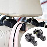 Converts your car's headrest into a convenient storage space to hang groceries, clothes, umbrella, handbags, water bottles, kid's toys, baby supplies and much more. Creates perfect hanging space behind your car seat. Keeps shopping bags from rolling ...