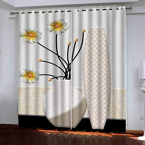 SSHHJ Polyester Blackout Curtains Waterproof And Durable Curtain Suitable For Curtain Leaves Of Balcony, Bedroom, Kitchen 2 Pieces